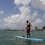 commute to work on a paddle board